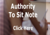 Instruction to Access Authority to Sit Note